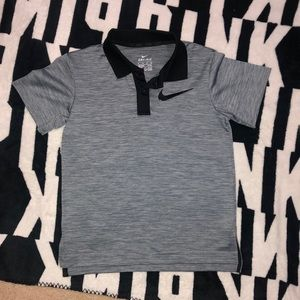 Boys Dri-Fit Nike collared T-shirt.